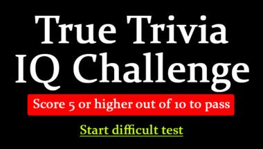 Trivia Quiz for smart people